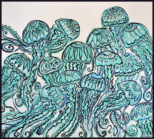 Jellies | 50x45 inches | $1200