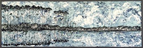 Springtime Blues | 73x26 inches | $1800