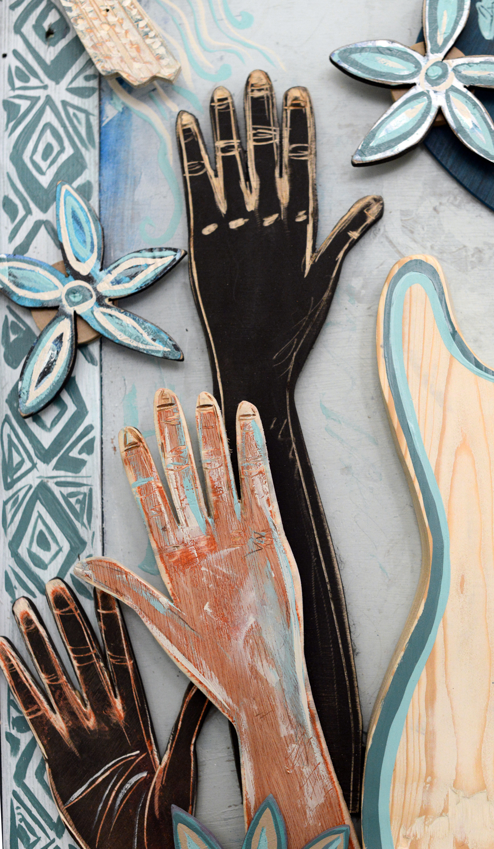 hands representing the nations of the world