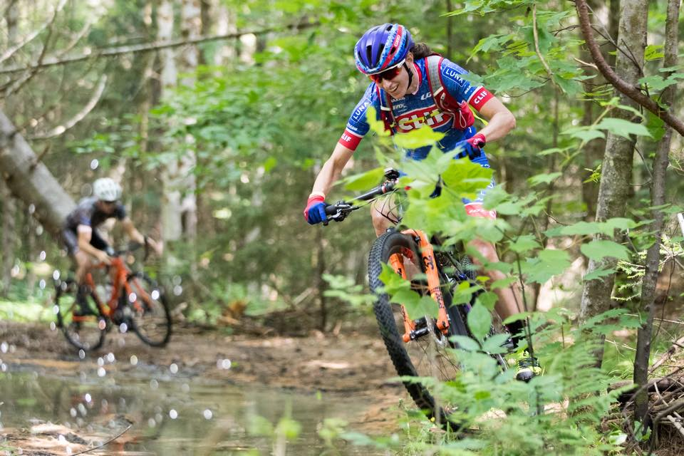 Leah Davidson Shreds the first section of Class 4 road