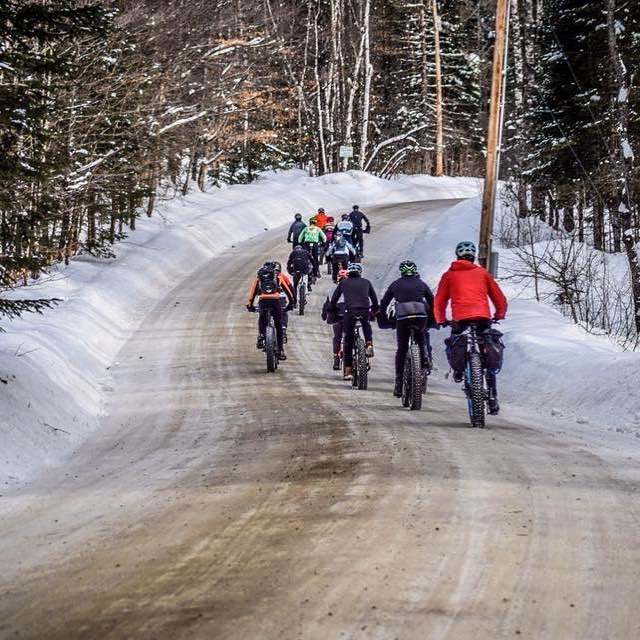 The roads that wind through the Northeast Kingdom are beautiful, even when it's -13. We had a blast at the @woolybuggahbarn this past weekend. Thank you for the hospitality! Check out @vermontoverland's most recent VOLOG on YouTube to get an idea of where we stopped. 📸 @noleysnap #gravelgrinder #fatbike #cycling #whereiride #roadslikethese #bikes #rideyourbike #VT #Vermontlife #winterriding #velo #cyclingphotos #lifestyle #fit #fitness #bike #welivetoexplore