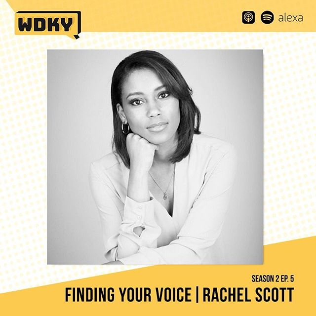 Finding your voice is a continual, lifelong process. If you haven't already, tune into Episode 5 with @itsrachelscott for actionable steps to pursuing a purpose driven life! - Let us know your thoughts! #WDKYet