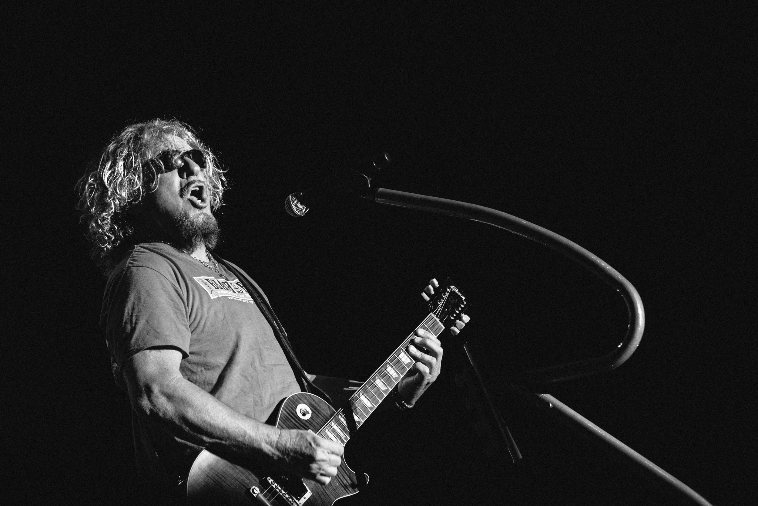 "Sammy Hagar teaching us that ""never"" is a good time to give up your dreams. Image by Zan Passante"