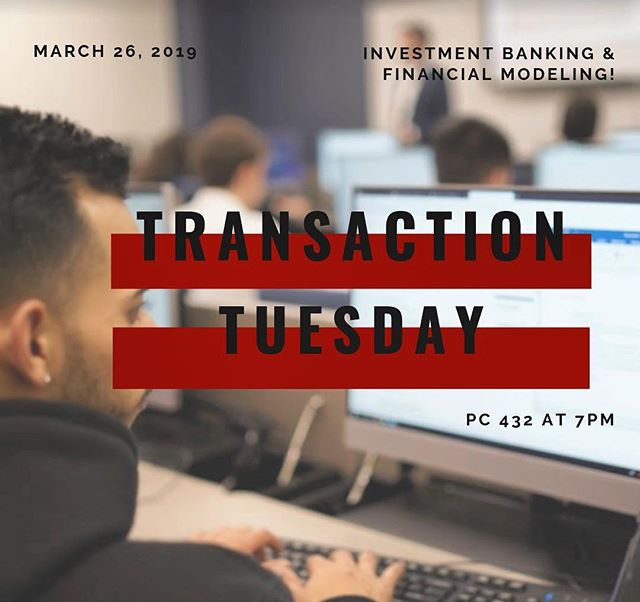 Today we will be hosting our usual Transaction-Tuesday meeting at Primera Casa (PC) Room 432 at 7:00 pm. Do not miss out on today's Investment Banking lecture with Rob Solo and Financial Modeling with Gabriel Zavarse-Fadul! See you there! 🏦🐾 . . . @fiubusiness @fiumarketing @fiucareer @fiuinstagram  #business #marketing #fiu #finance #banking #investmentbanking #university #businessclub #wallstreet #ubs #bank #money #financialliteracy #future #education #learning #professional #fiu21 #fiu22 #fiu20 #fiu19 #financialmodeling #finance #fiubusiness
