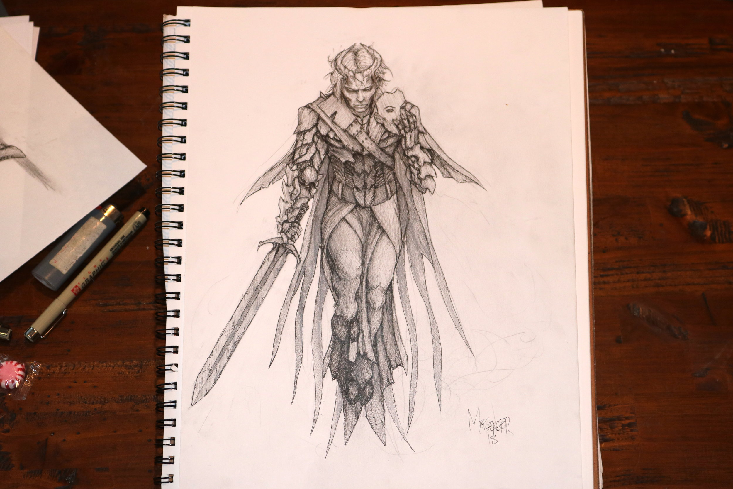 Xaeryn, the changeling, avenger of blood