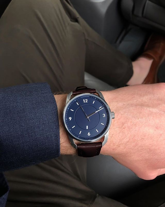 Navy dial and brown leather strap, can't go wrong.