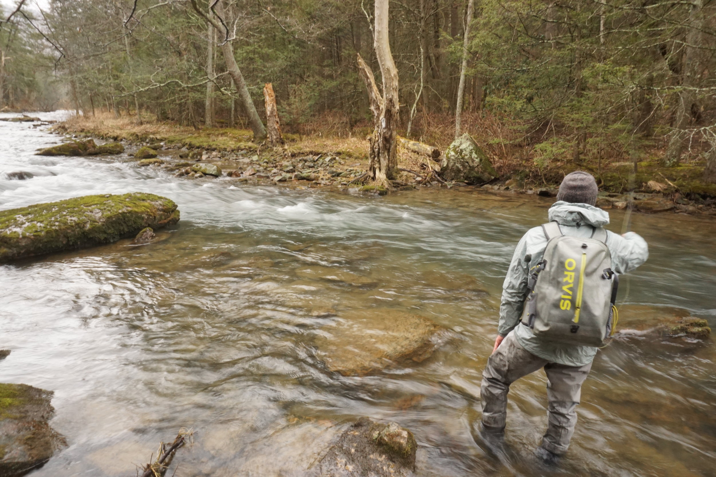 Hitting the Head is a good approach during peak insect activity when trout position themselves at the head of the runs to intercept drifting insects.