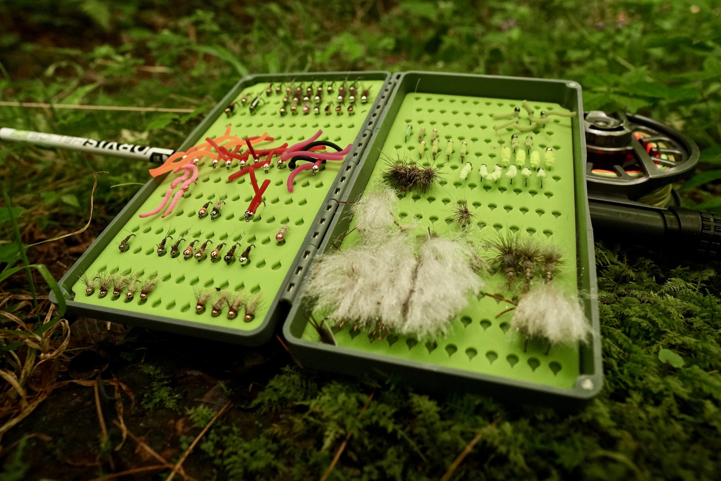 "My kinda of ""organized"" small stream fly box."