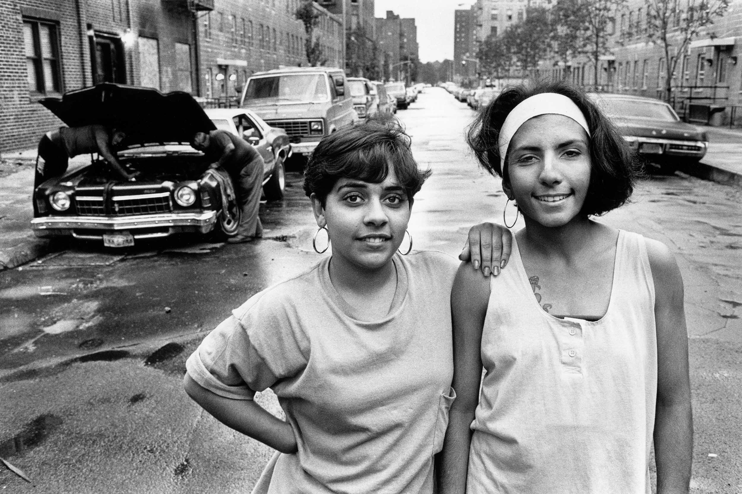 Amy, right, and Lillian, 1989