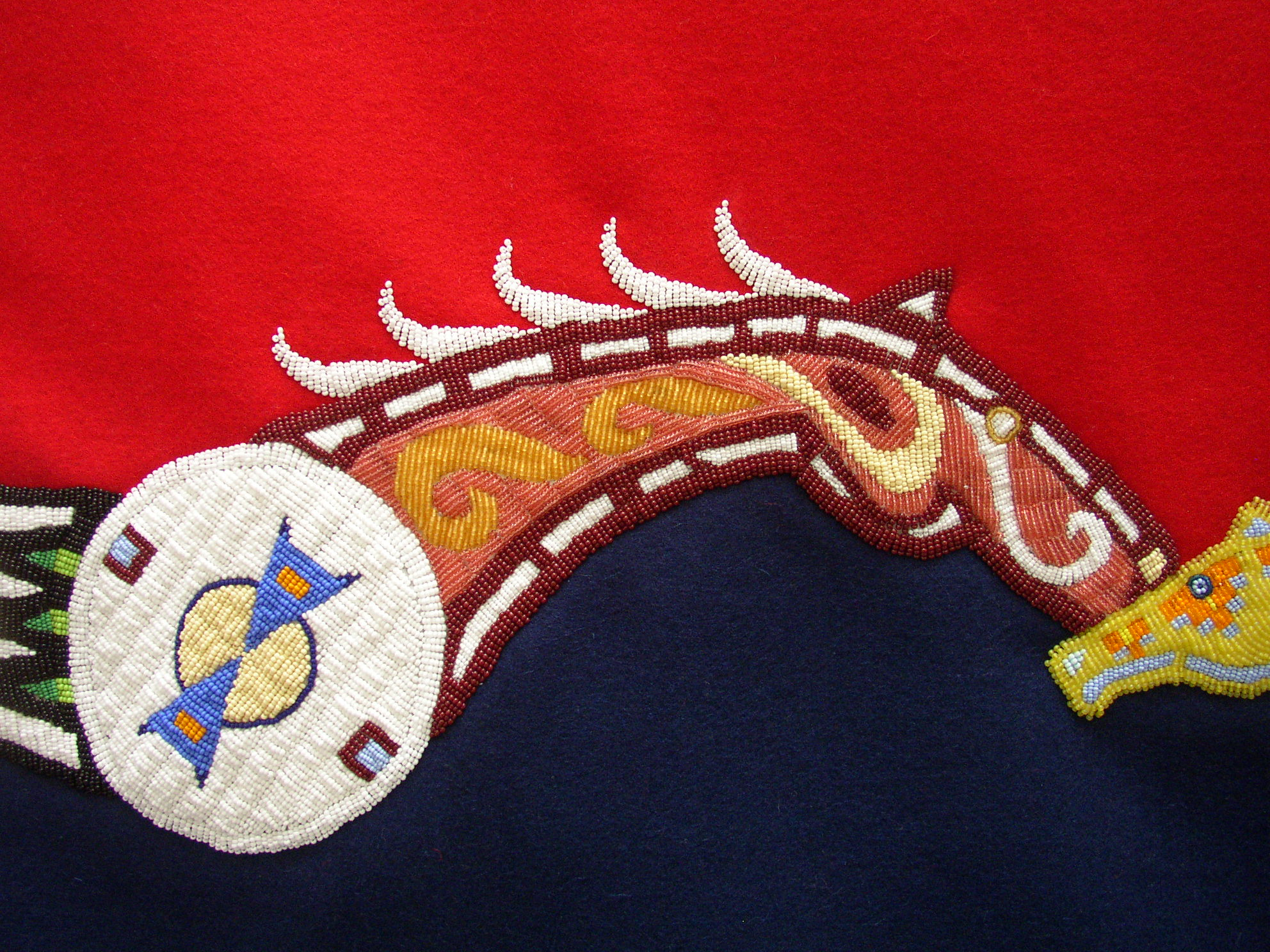 Six Horses Courting Blanket, Detail