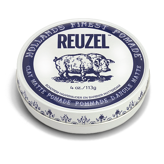 REUZEL CLAY MATTE POMADE   STRONG HOLD • MATTE FINISH • WATER SOLUBLE