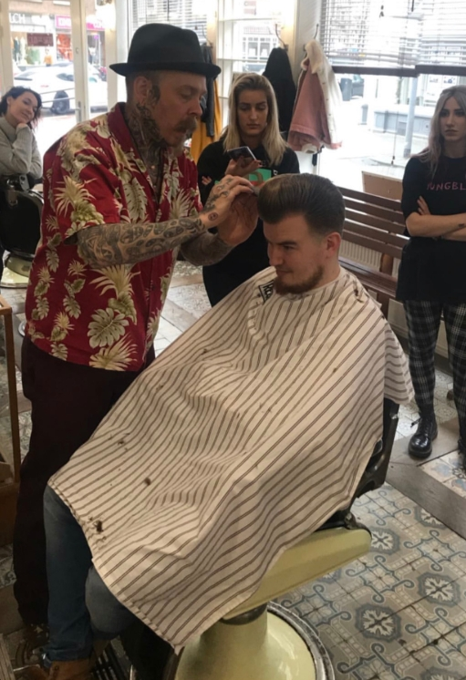 Bertus (when you meet him, however, call him Rob), who can attract 2,000 people at his shows, demonstrates to BarberX and other students his craft. If you are serious about barbering, we'll be serious about your career.