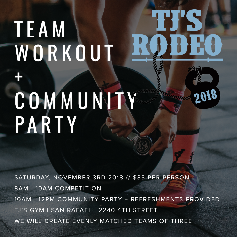 WE CAN'T WAIT! Competitors: we will be emailing teams and workouts TONIGHT! Non-competitors: we hope you'll come to cheer on the athletes and hang out afterwards! Reminder, all classes are cancelled at all three locations on Saturday for the event!