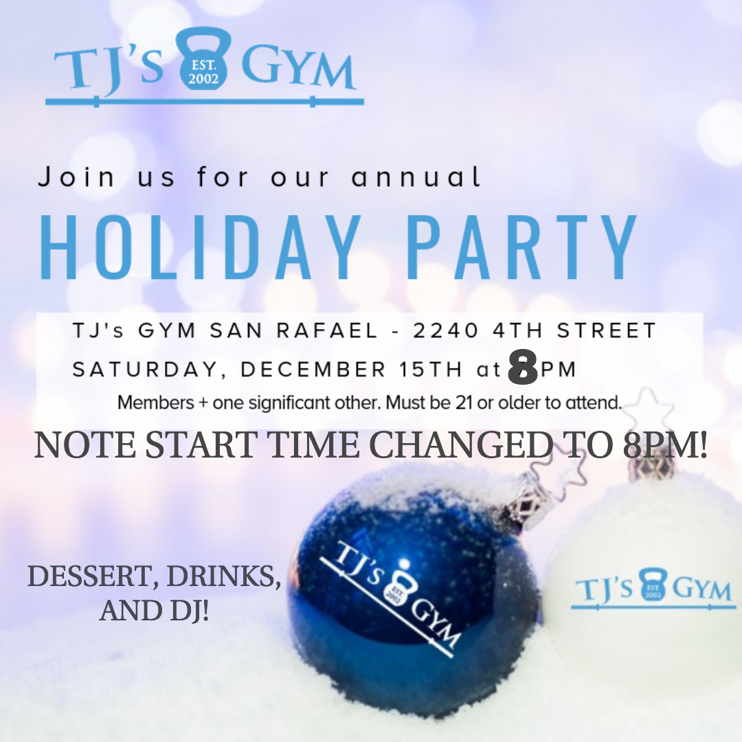 PLEASE NOTE TIME CHANGE! We will start at 8pm. Drinks, dessert, and DJ, so be ready to dance! Please note: ages 21 and older, only. Thank you!
