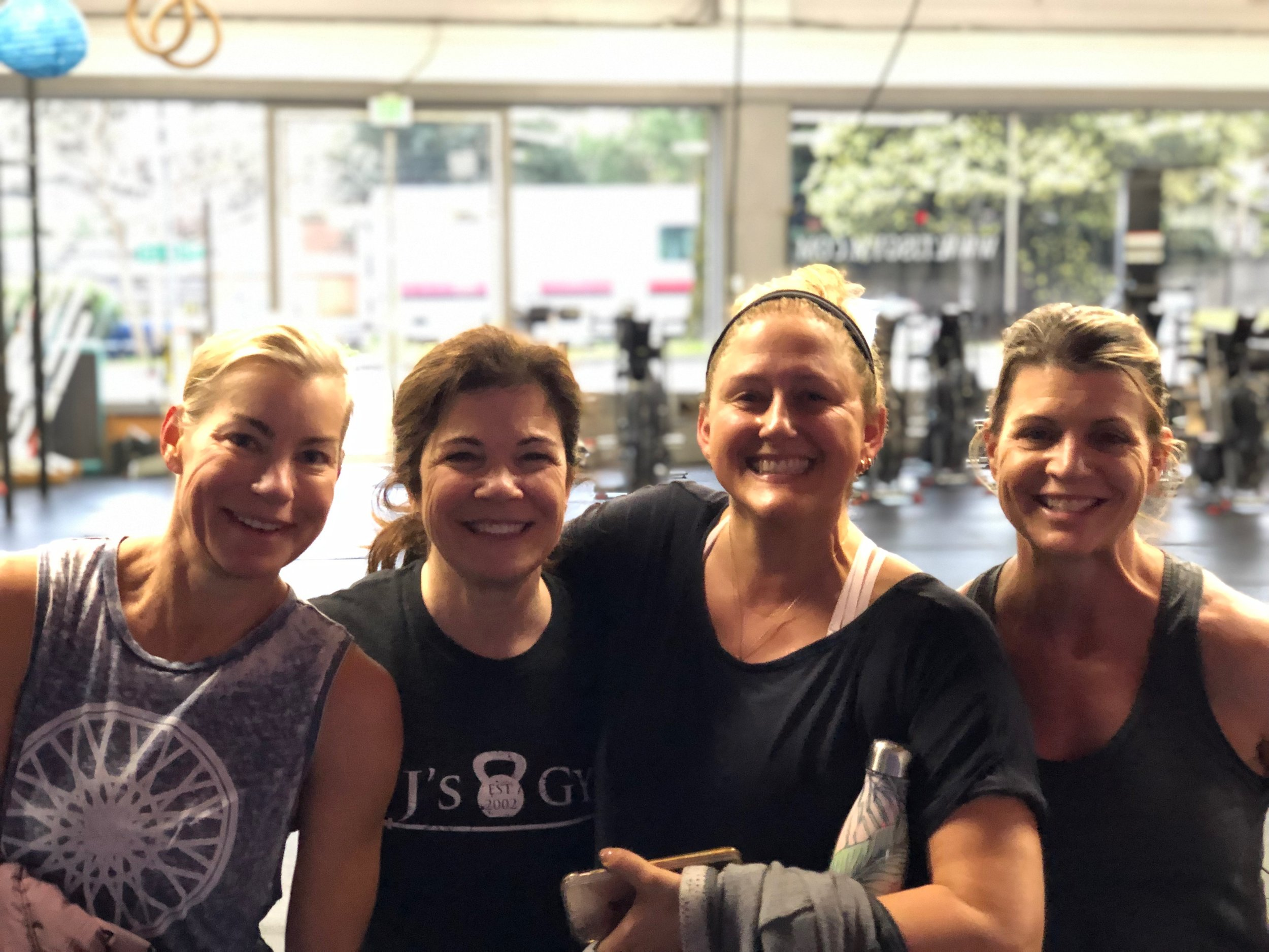 Our Community is the best! - Photos like this one make us reflect on how much greatness goes on inside our gyms. These powerhouse women have been coming for years, and we are so grateful for their presence, hard work, and friendship.
