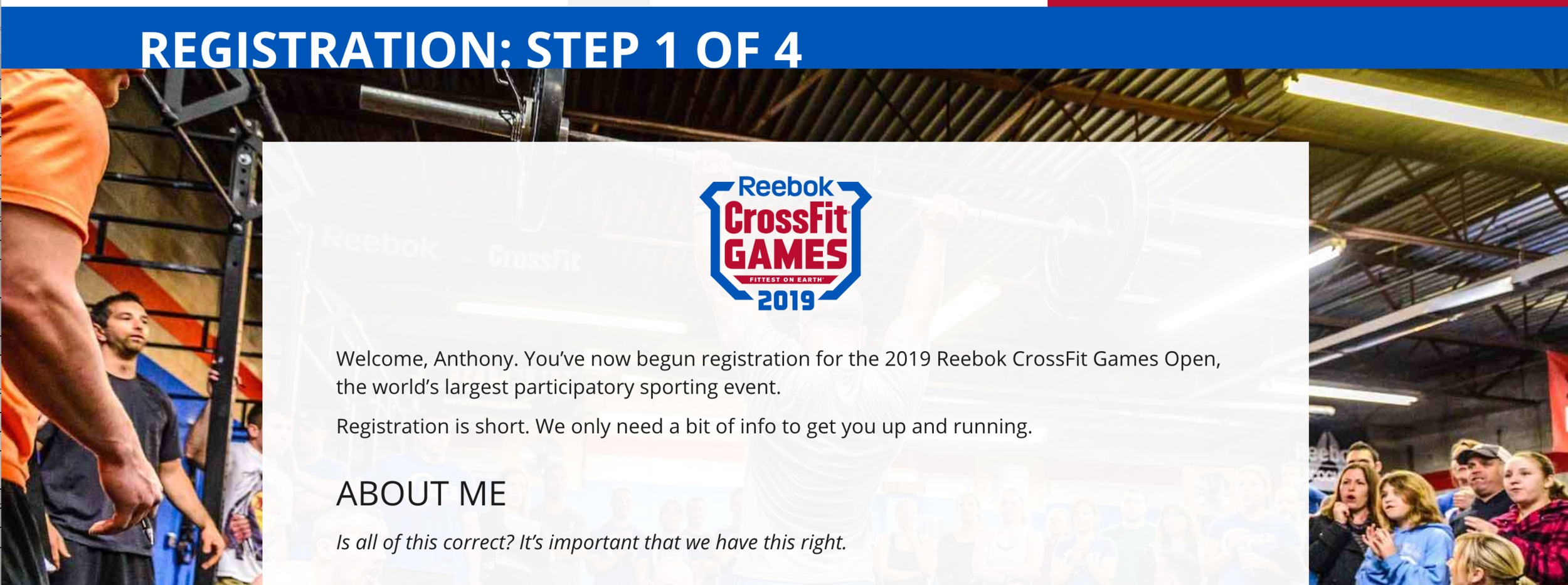 STEP TWO - Confirm your current information (if you already had a profile) or fill out your new information. You will choose CrossFit San Rafael, CrossFit Mill Valley or CrossFit Corte Madera.Under the hashtag box add tjsgymsanrafael, tjsgymmillvalley, or tjsgymcortemadera, depending on the team you will represent.