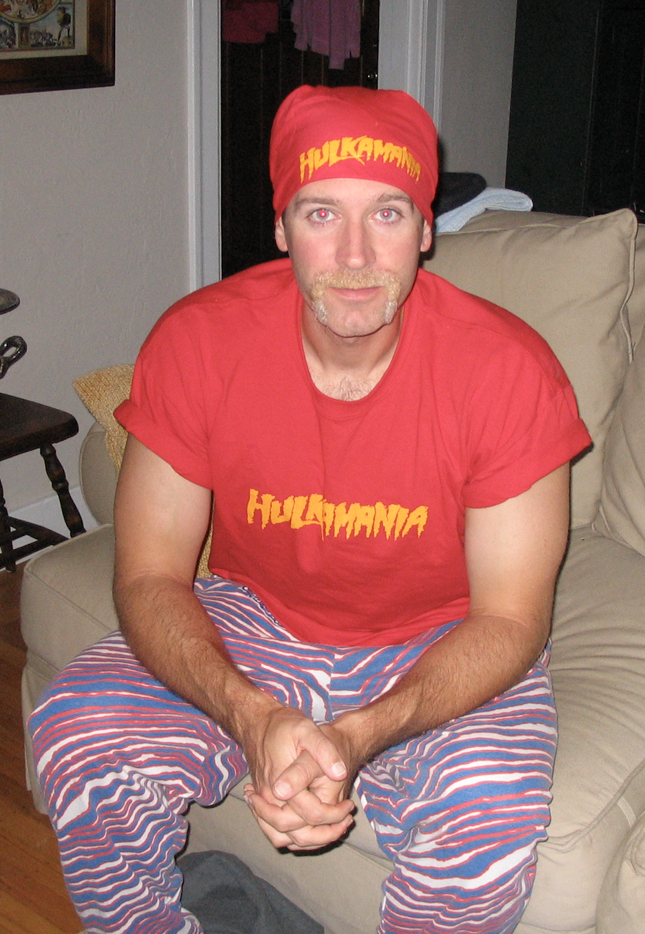 TJ as Hulk Hogan, circa 2005.