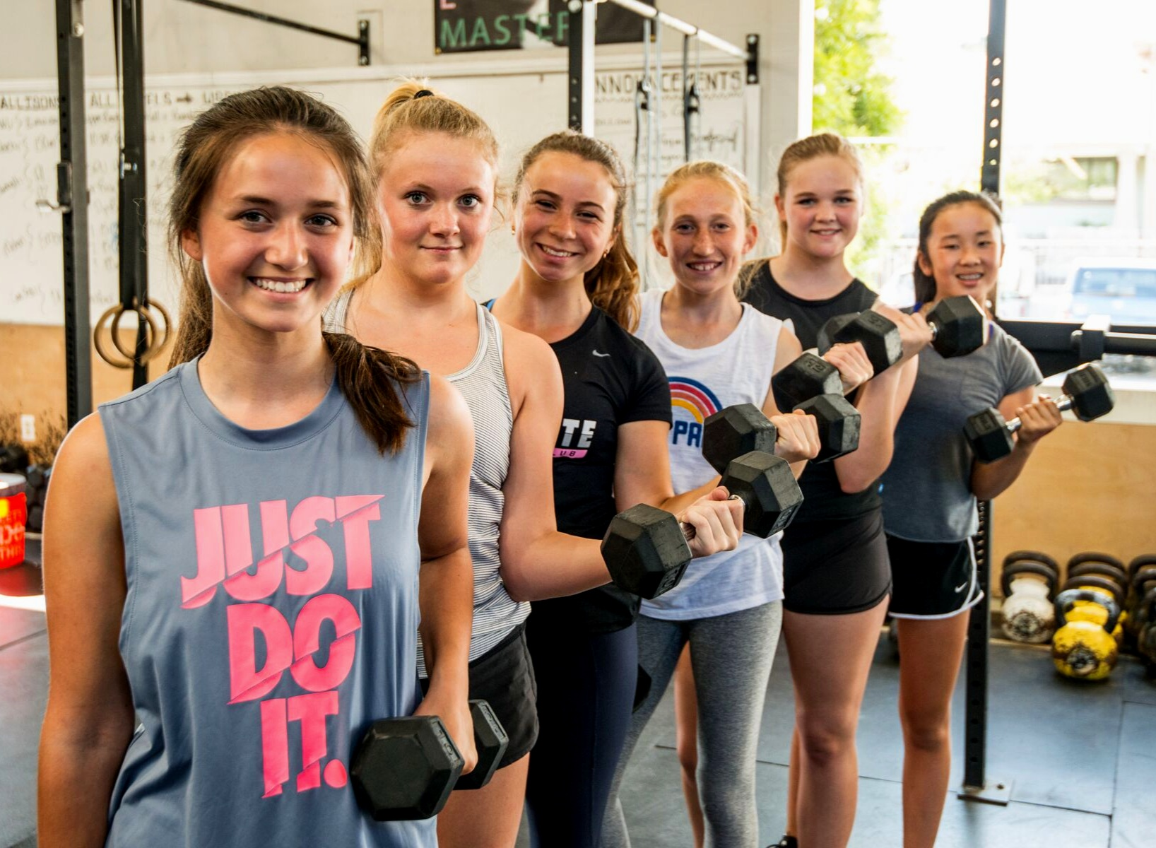 Girl Power! - Happy International Women's Day from TJ's Gym! We are all about promoting and developing strong, confident, capable, fit female leaders. We believe that fitness and physical strength are an important part of the equation, especially when pursued in the context of a welcoming, supportive, and encouraging environment. Here's to all of the strong girls and women in our midst!