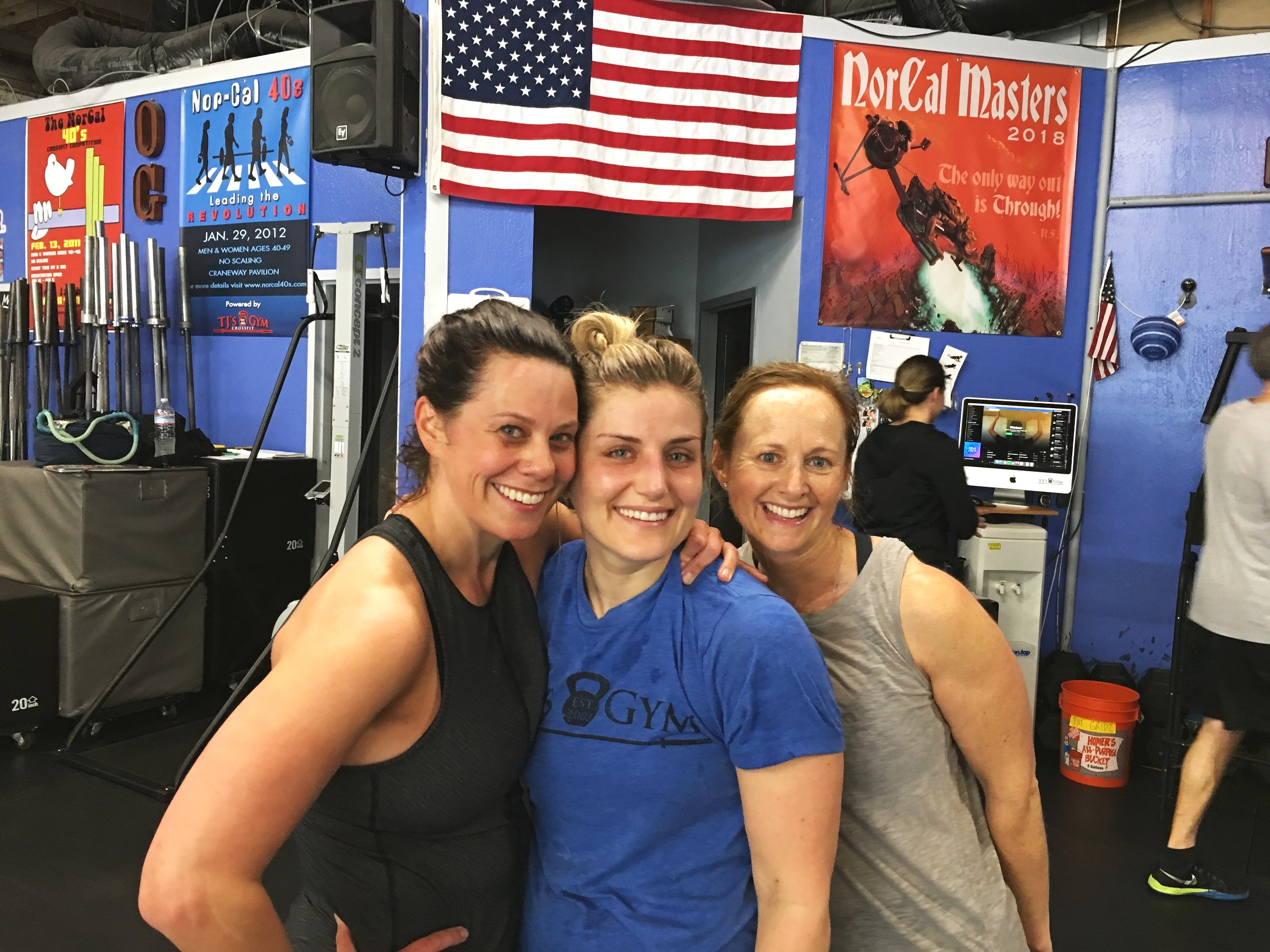 Gym friends for life. #OG - Three great, badass women we are lucky to know.