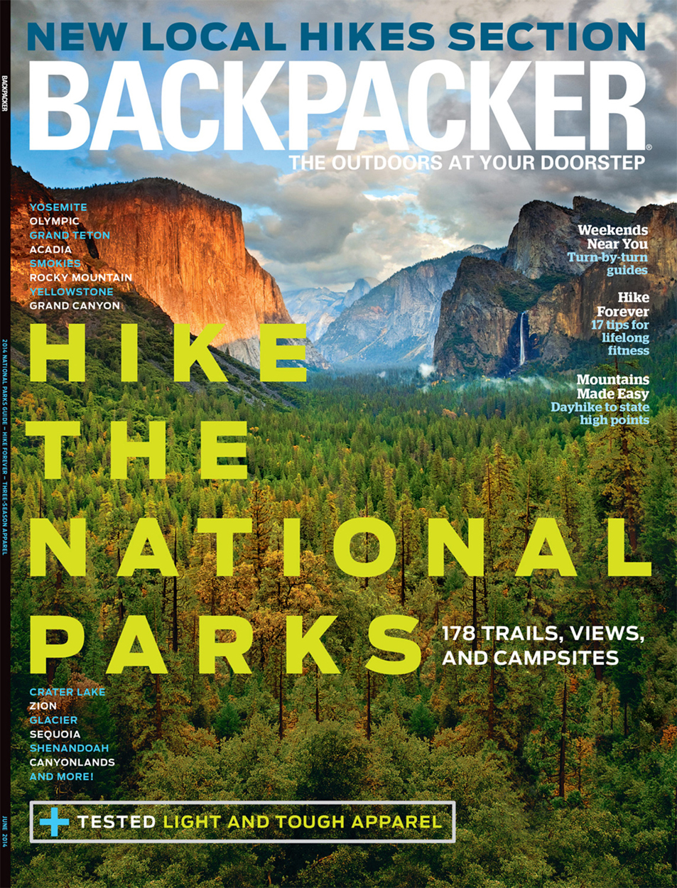 Backpacker Magazine - Cover