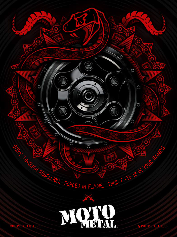 Moto Metal Print Ad