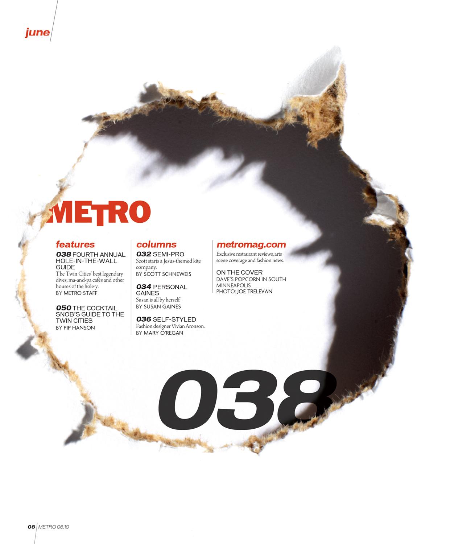 METRO magazine - TOC