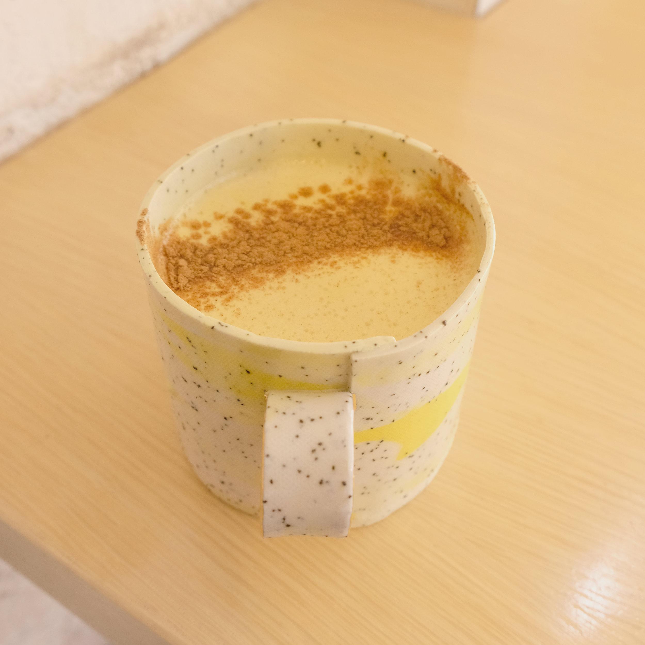 Golden Turmeric Milk Latte - by Brotes y Raices