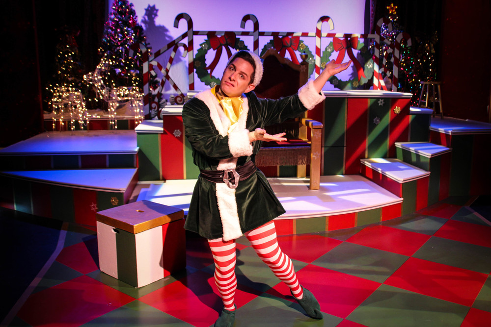 Matt as Crumpet in THE SANTALAND DIARIES
