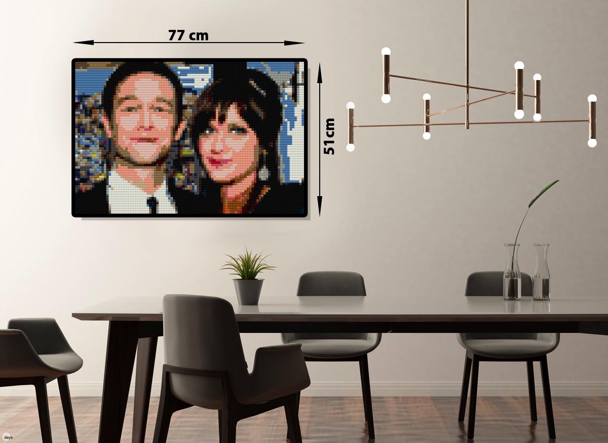 Для парных портретов отлично подходит формат мозаики 77 на 51 см