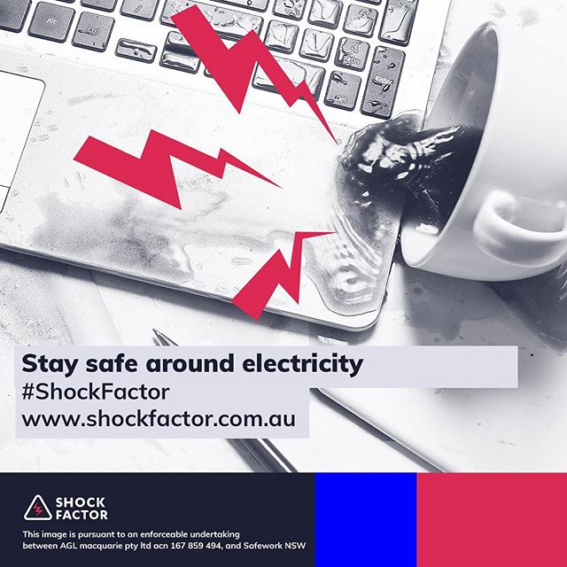 Spilled coffee? Make sure all power is disconnected immediately! Find out how you can protect yourself from electrical risks: https://bit.ly/2IHcrQW #ShockFactor #ElectricalSafety