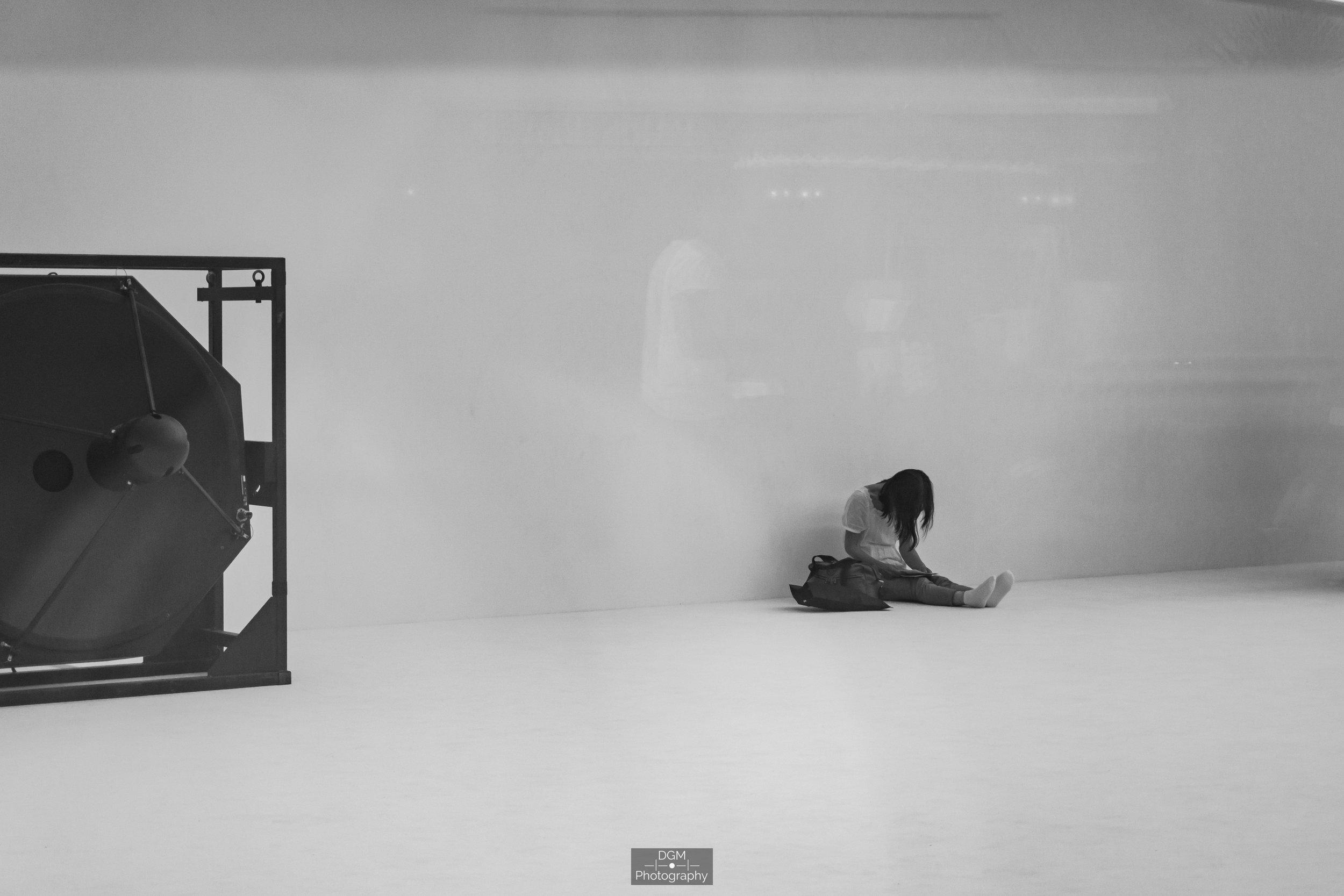 Woman in Centre Pompidou