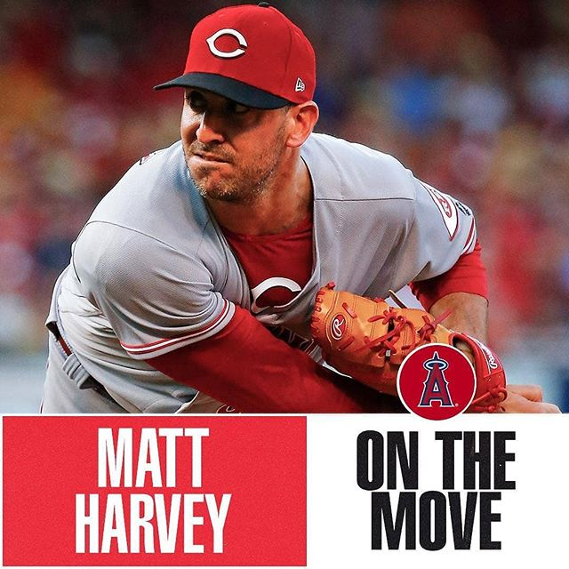 #Repost @mlb • • • • • Matt Harvey #stats  Position: Pitcher Bats: Right •  Throws: Right 6-4, 215lb (193cm, 97kg) Team: Los Angeles Angels (majors)  @mattharvey33 @pitchrxapp
