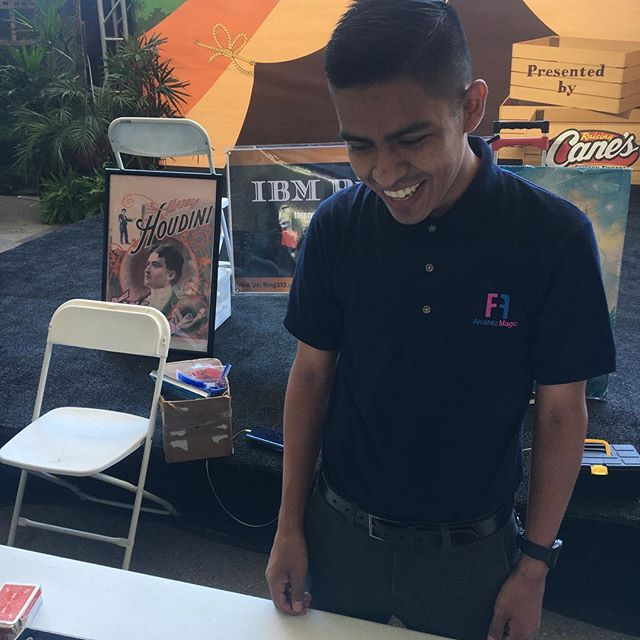 Just finished performing some magic at the @oc_fair :) Now to enjoy the fair!  #magician #ocfair #magic #newshirt