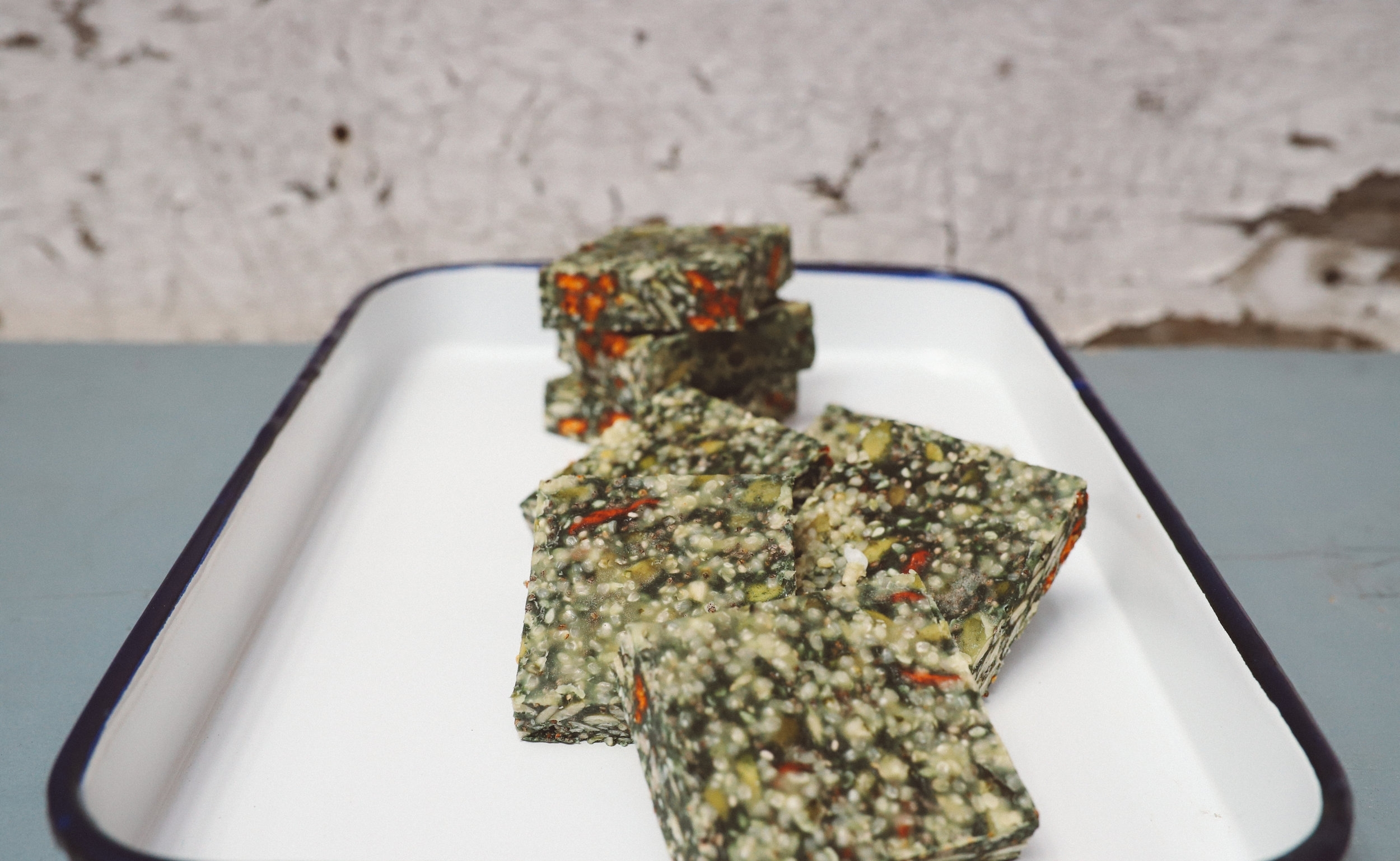Spirulina Mint Goji Bars
