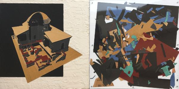Palladian Abrasion   Plaster, sandpaper, perspex, wood  1000 x 500 x 30 mm  2018  F/S