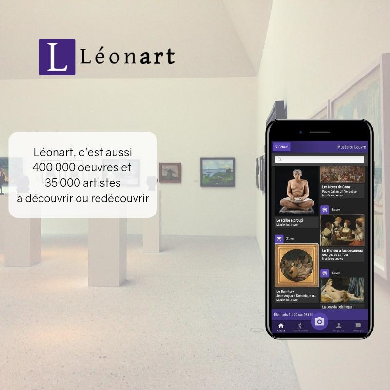 Léonart, musée emportable - Grâce à la Réunion des Musées Nationaux, découvrez un musée emportable :400 000 oeuvres35 0000 artistes de tous genresdes milliers de lieux partout dans le monde