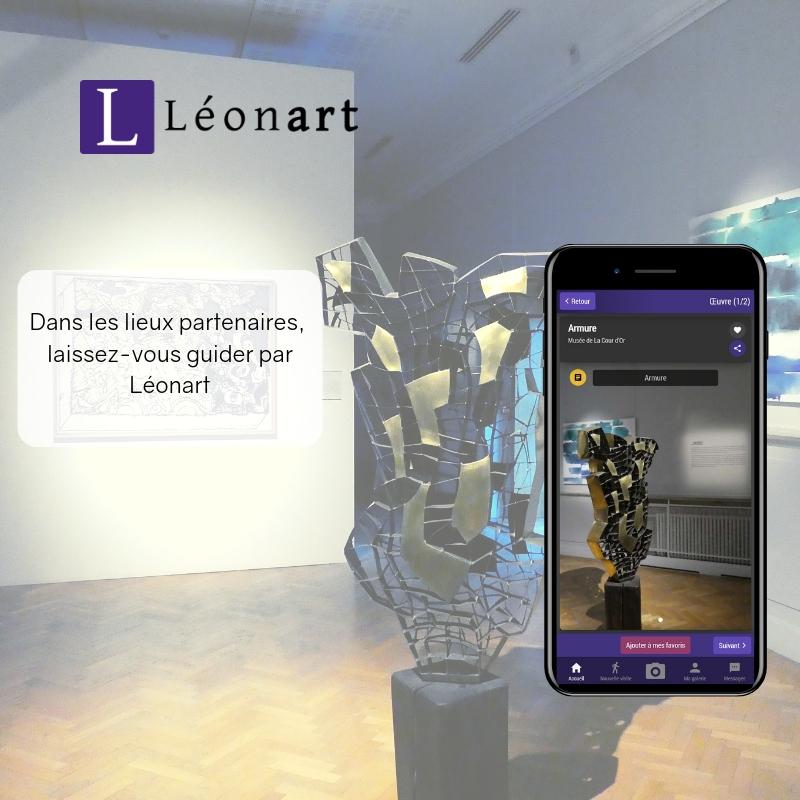 Léonart et ses partenaires - Dans les lieux partenaires, Léonart vous propose :- la reconnaissance photo,- des informations fiables,- des parcours thématiques,- les actualités du lieu...