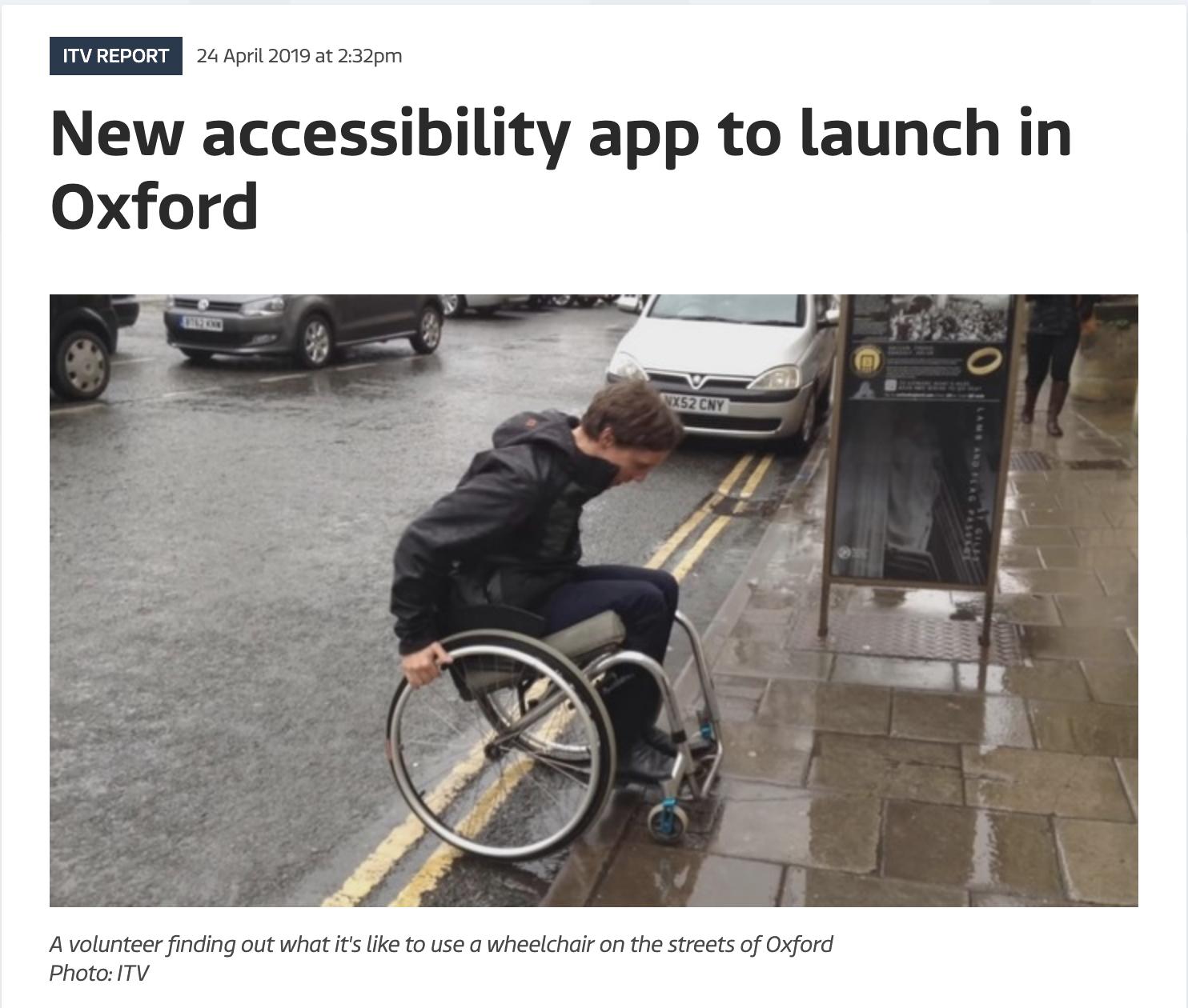 Thumbnail of iTV news article, 24 April 2019.