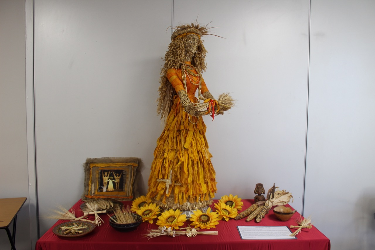 Victoria Musson's Grain Goddess on display.