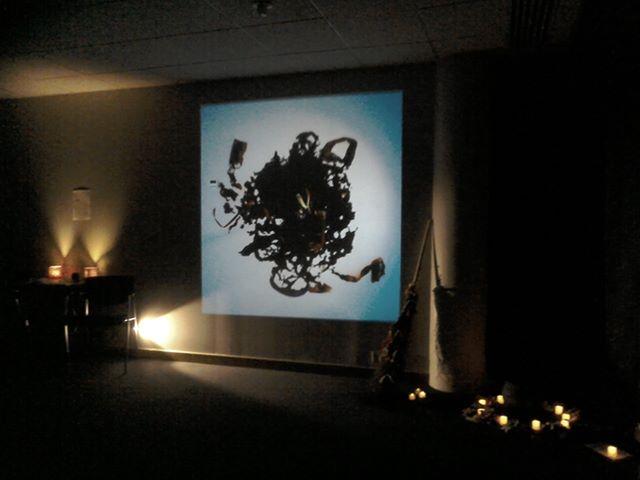 A part of Sara Hannant's art installation.