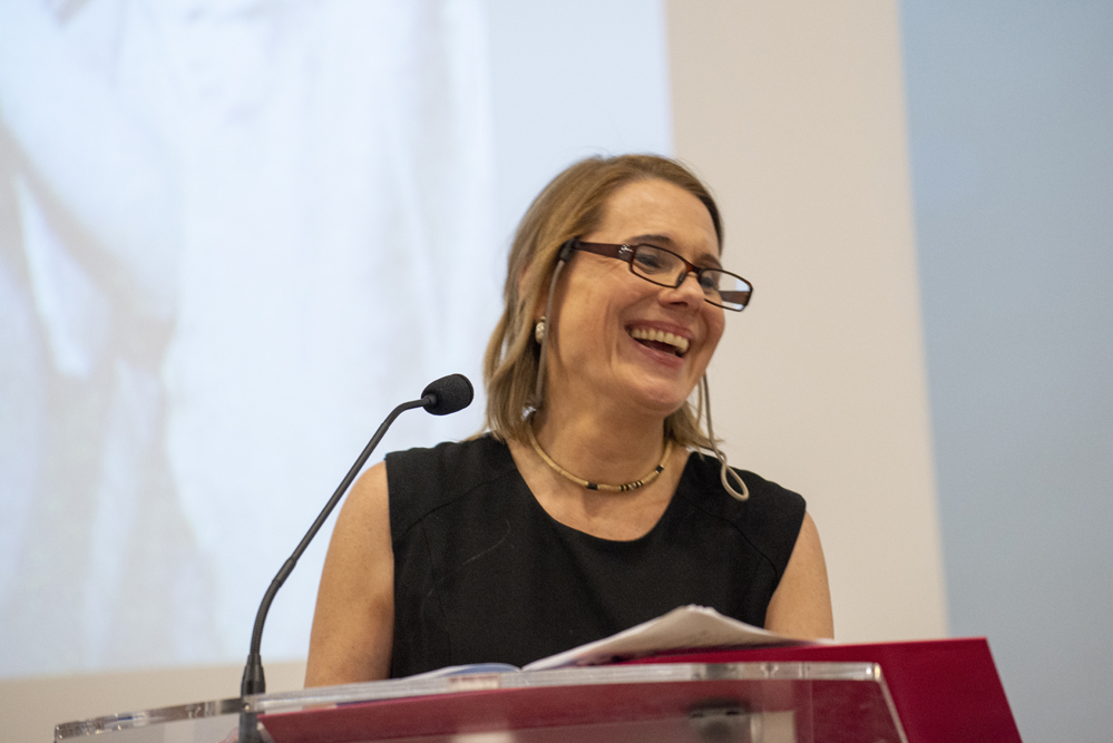 Keynote speaker Christina Oakley-Harrington. Photo © Sara Hannant.