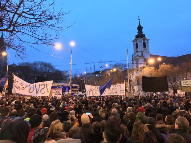 Demonstrations for a Decent Slovakia, 9 March 2018, Bratislava
