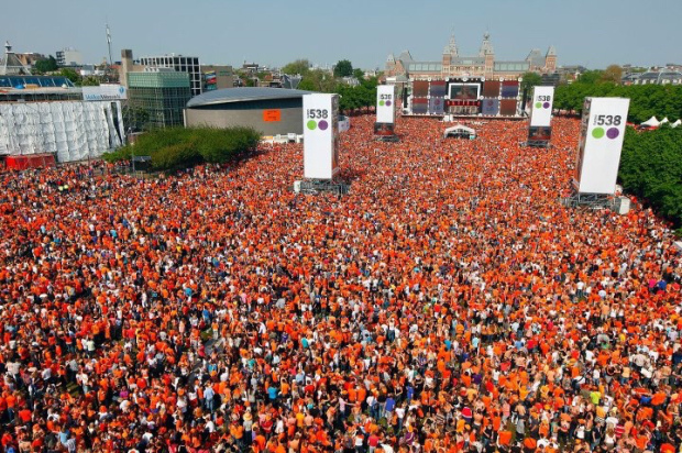 One of the many King's Day music festivals