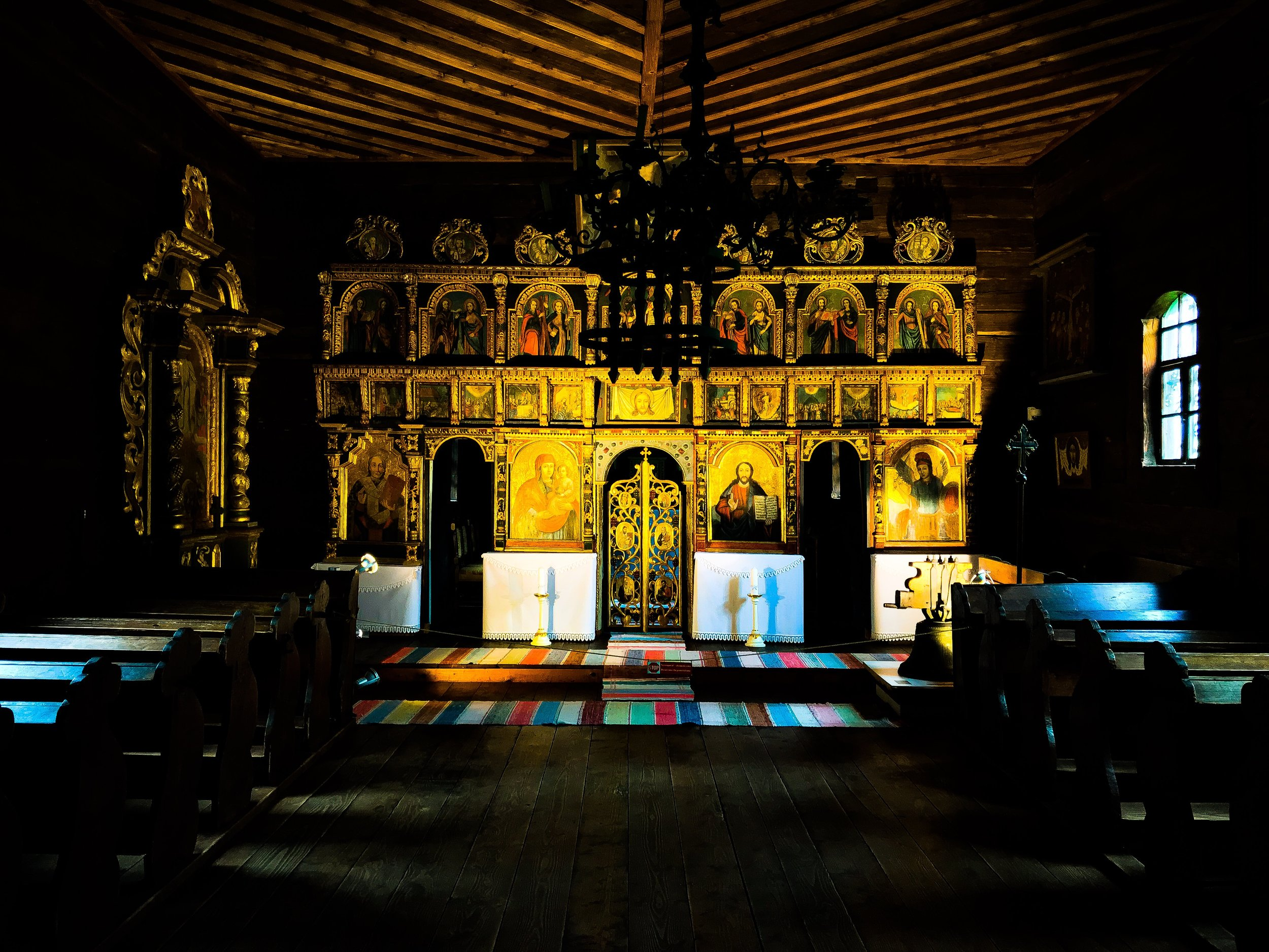 Interior of the Greek Catholic Church of St. Michael at the Stará Ĺubovnňa skanzen