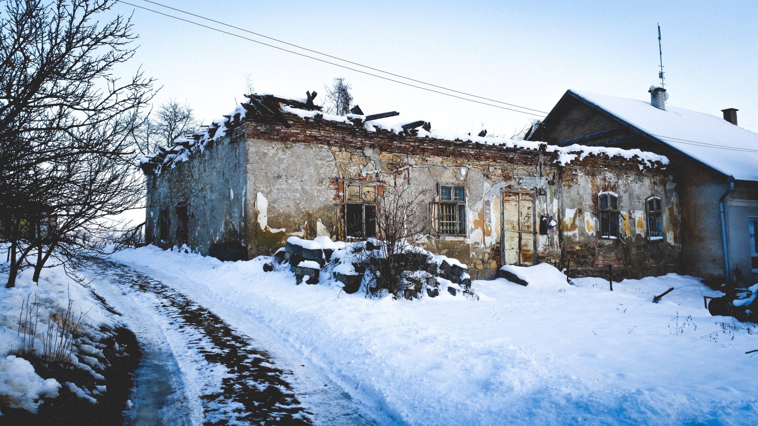 Skerešovo in winter -