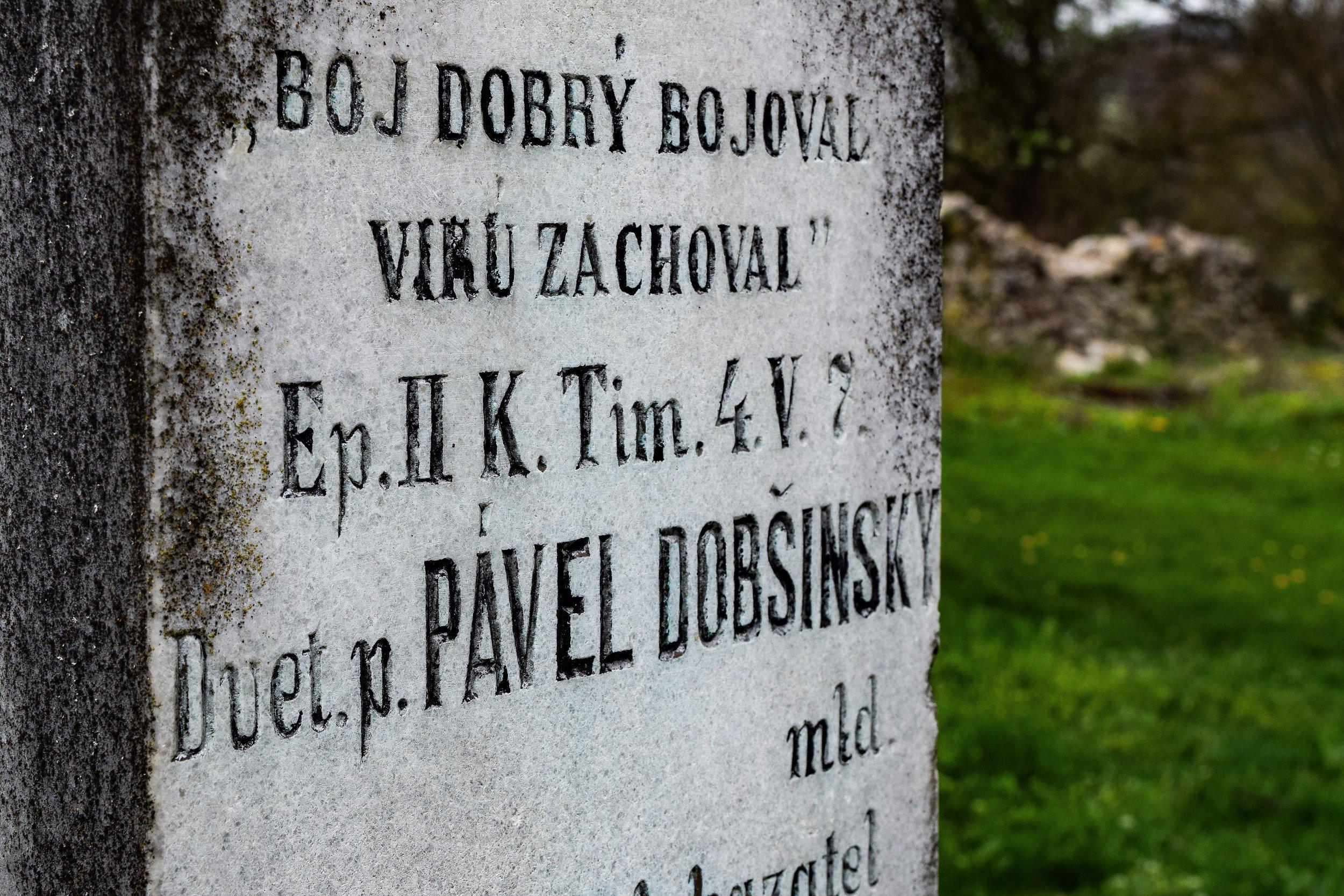 Drienčany and Pavol DobšinskÝ's final resting place -