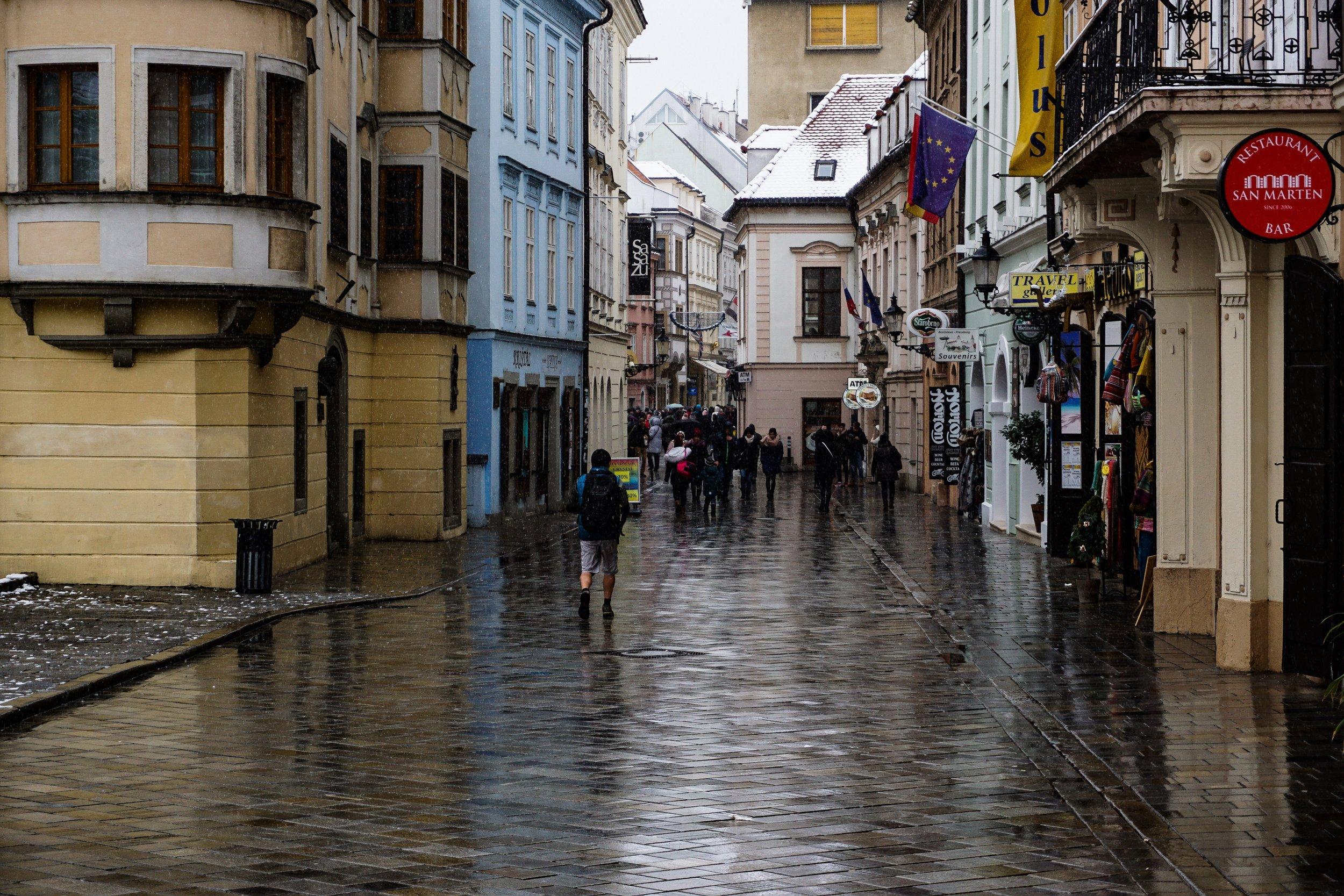 Bratislava in winter -