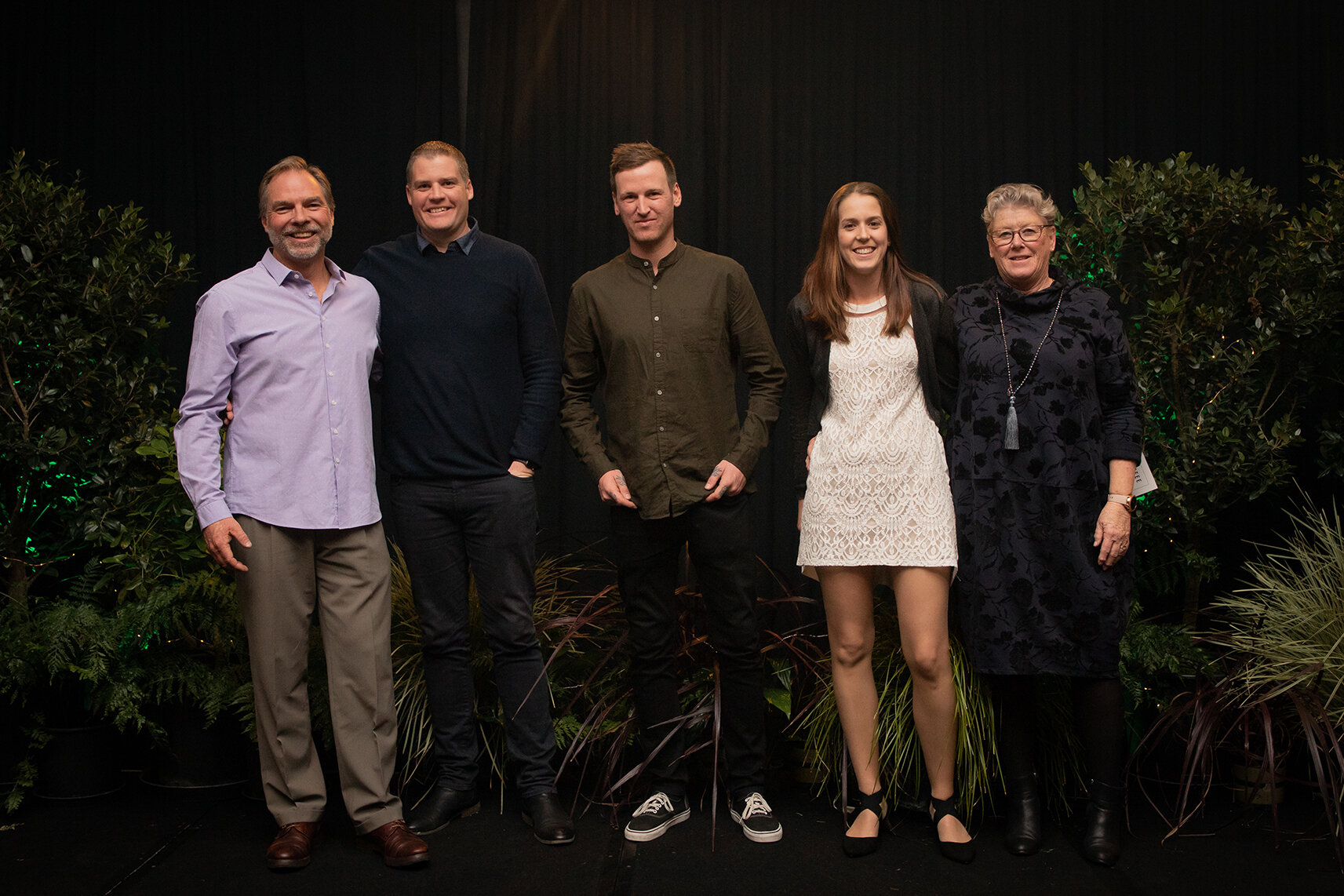 Pukekohe Cart for Best Marketing Initiative (1st Place) 2019 - From left to right: Director Jol Glover, Jono Ziesler, Jesse Donnelly, Sarah Ziesler and Director Donna Ferrall.