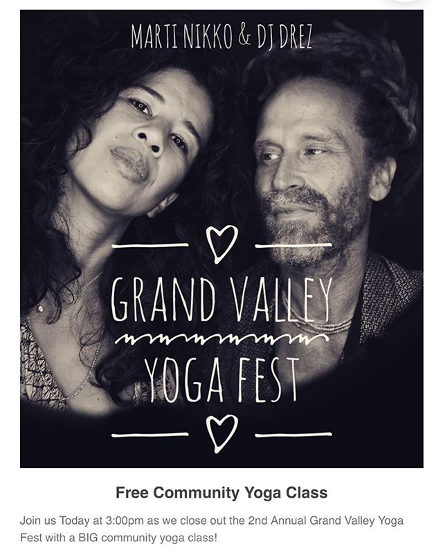 We have Connected and we have had Fun this weekend as we have gave back to our community 💜 Thank you so much for showing up this weekend. It has been an extremely inspiring weekend 💜🧘🏽‍♀️ . But we aren't done yet.... . Join us for one final class. Please join us at 3pm Today @ Palisade HS for an inspiring yoga class led by @martinikko with the sweet sounds of @djdrez. It's going to be OMazing!!!! We hope to see you here! 💜🧘🏽‍♀️🤸🏾‍♂️ . . #grandvalleyyogafest #subaru #iamGJ #shareGJ #yoga #yogaformentalhealth #djdrez #suicideawareness #connect #fun #community #westslopebestslope #palisade #fruita #grandjunction #grandvalley #bethechange #colorado #coloradoyogi 🧘🏽‍♀️