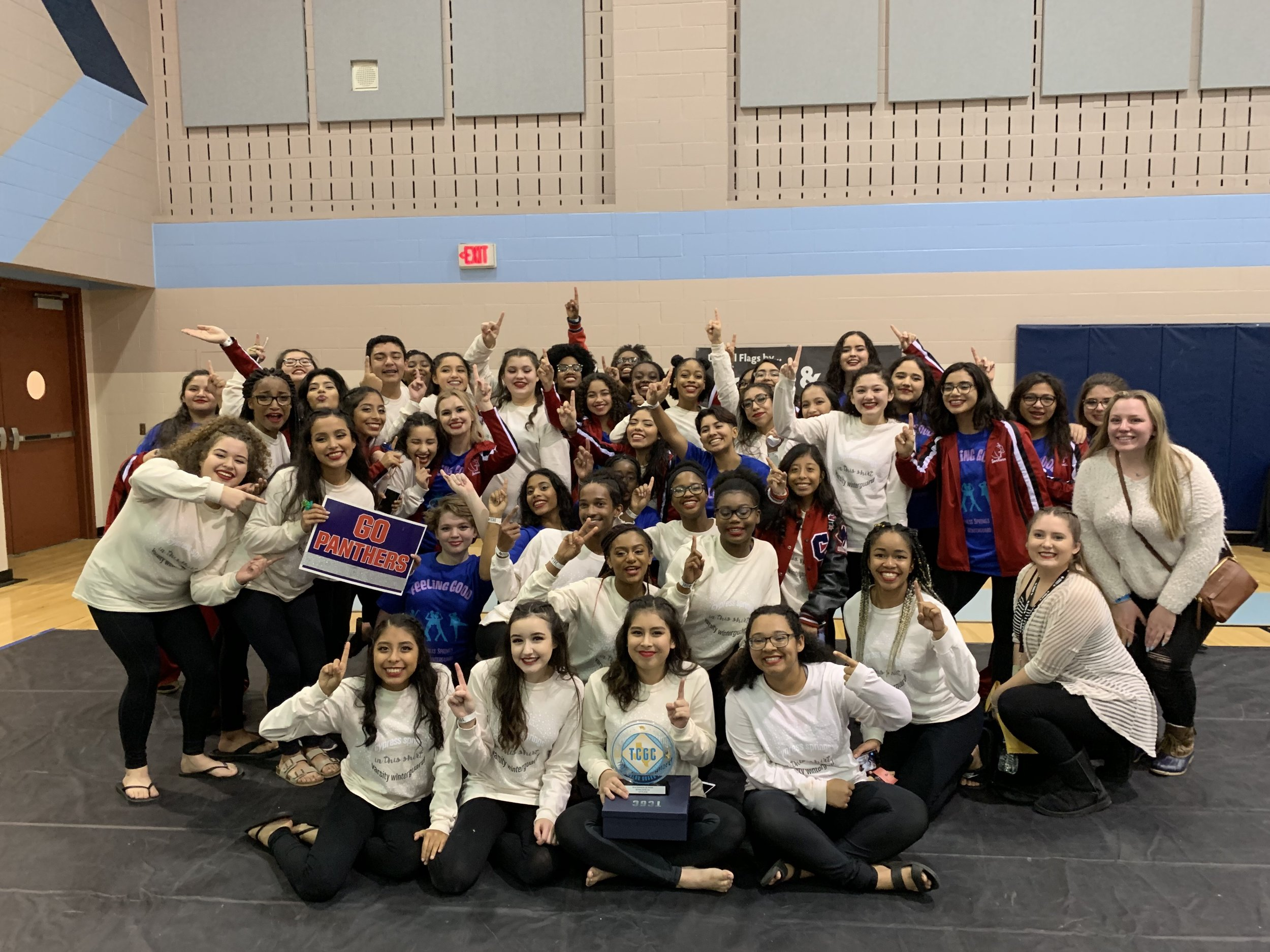 A big win has the winterguard team looking forward to the rest of the season. (Photo by sponsor)
